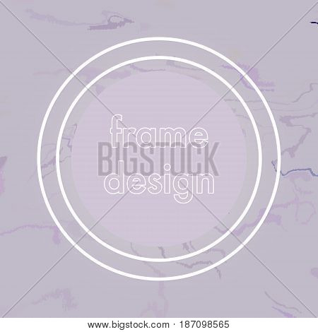 abstract crack frame design, modern stylized background.