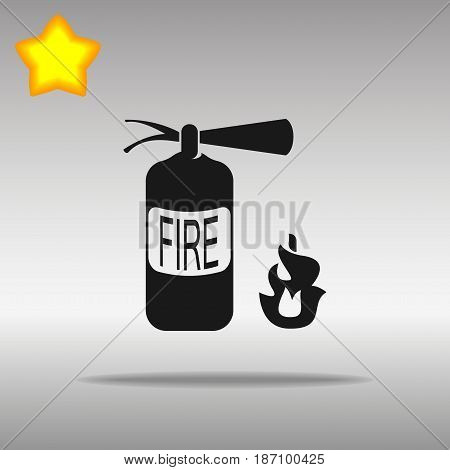 fire extinguisher black Icon button logo symbol concept high quality on the gray background