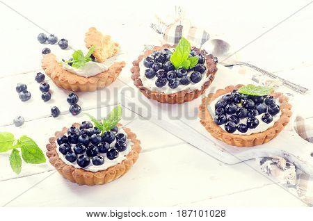 Sweet Blueberry Tarts