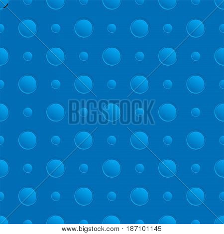 Seamless blue pattern with holes. Vector background illustration.