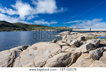 Lagoa Comprida is the largest lake of Serra da Estrela Portugal