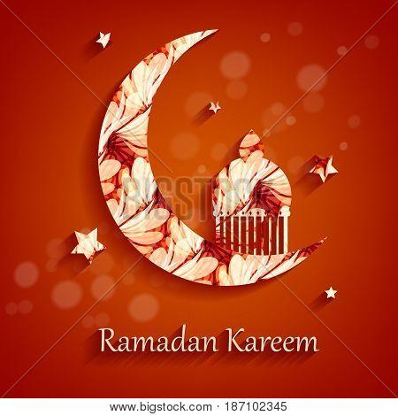 Ramadan Kareem vector background. Holyday illustration. Elements for your design. Eps10