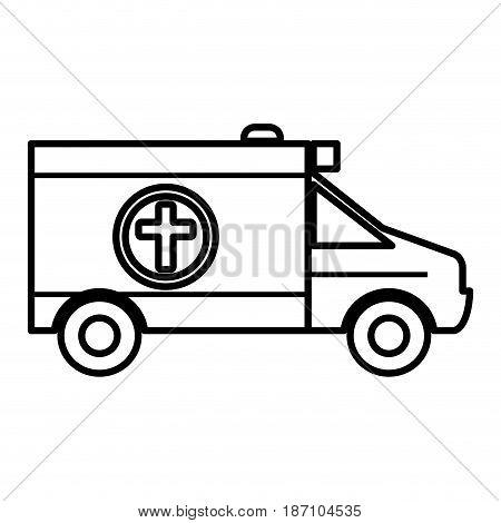 ambulance vehicle isolated icon vector illustration design