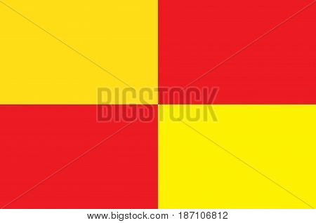 Flag of Tarbes is a commune in the Hautes-Pyrenees department in the Occitanie region of southwestern France. Vector illustration