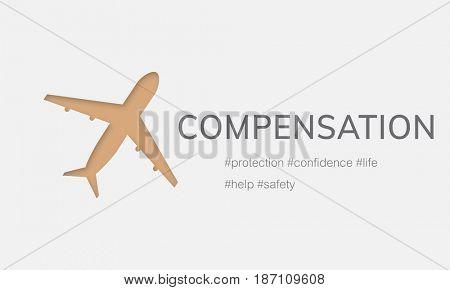 Illustration of aviation life insurance traveling trip