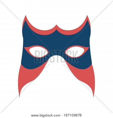 colorful silhouette of festival mask vector illustration