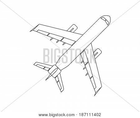 Airplane Flat Icon And Logo. Outline Vector Illustration