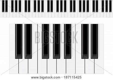 Piano keys. Vector illustration isolated on white background