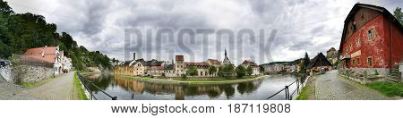 Cesky Krumlov. Czech Republic. Panorama of city