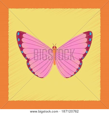 flat shading style illustration of insect butterfly