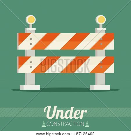 Under construction concept in flat design style vector illustration