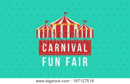 Background amusement park and circus vector illustration
