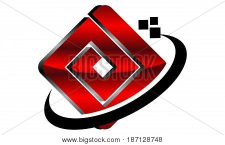 This image describe about Modern Logo Solution Letter D