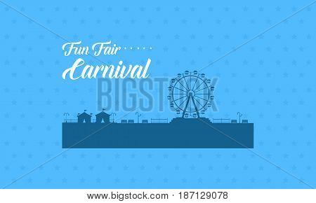 Vector flat for carnival background collection stock