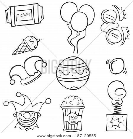 Doodle of ornament circus hand draw vector art