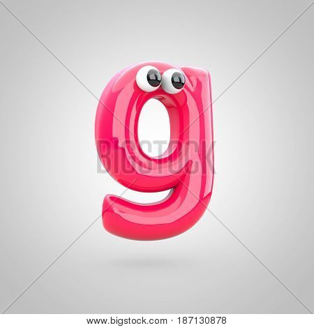 Funny Pink Letter G Lowercase With Eyes