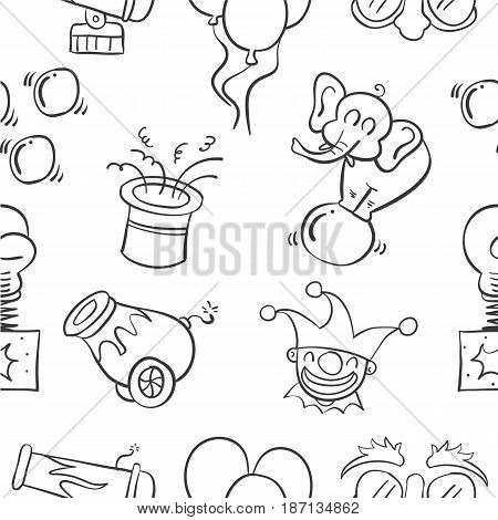 Hand draw circus element doodles vector illustration