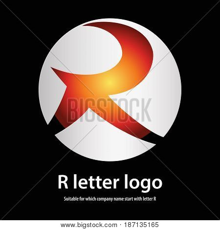 3d circle r letter logo 100% vector fully editable and re sizable suitable for which letter is beginning with letter r