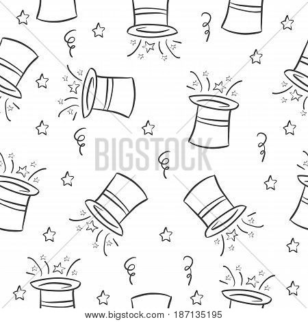 Hat circus pattern style collection vector illustration