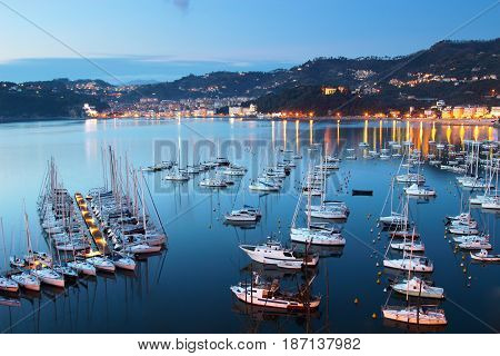 Sea Yachts In The Night