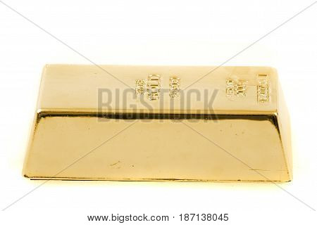 Golden Brick Isolated