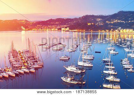 Many Sea Yachts And Boats