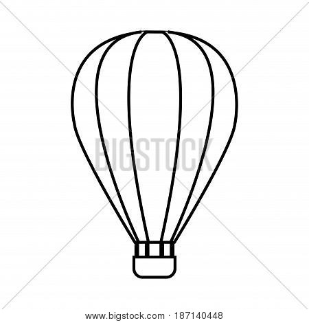 hot air balloon icon over white background. vector illustration