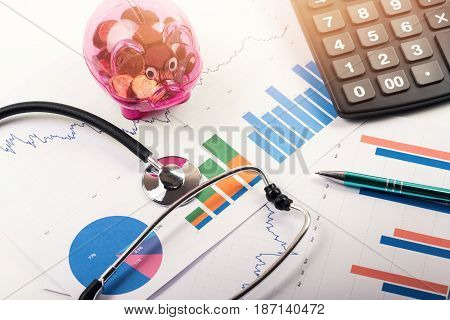 health care costs and budget planning concept