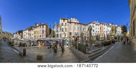 People Visit The Place De Cadeurs With Its Famous Restaurants