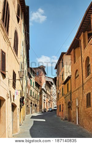Old Siena City, Tuscany Region, Italy.