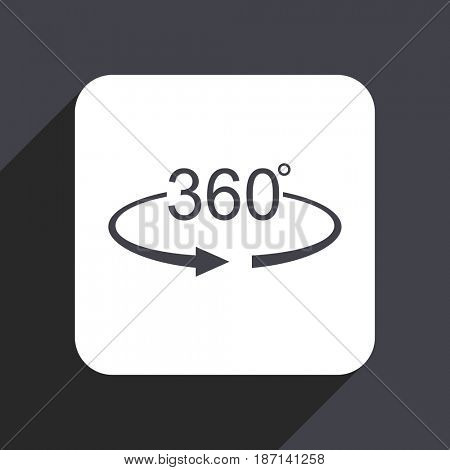 Panorama 360 flat design web icon isolated on gray background