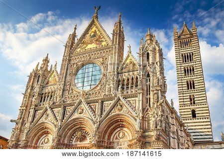 Siena Cathedral In Sunny Day