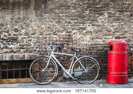 Bicycle Standing On The Street