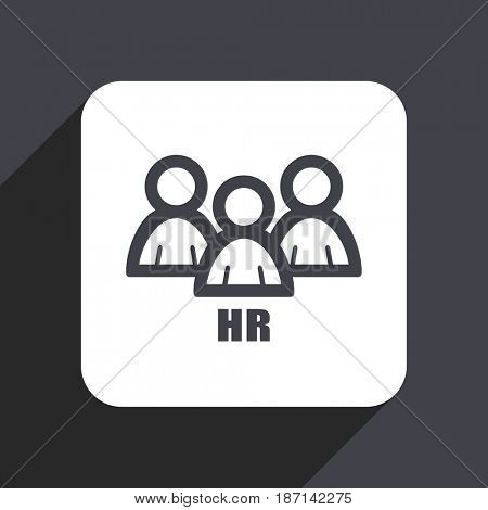 HR flat design web icon isolated on gray background