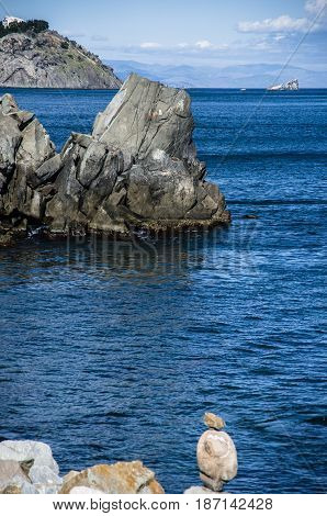 Coast of the Black Sea. The town of Partenit. Crimea.