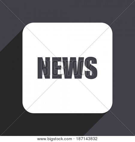 News flat design web icon isolated on gray background