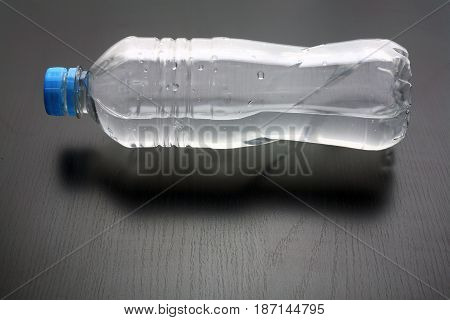 Bottle of Water  on a Black Background