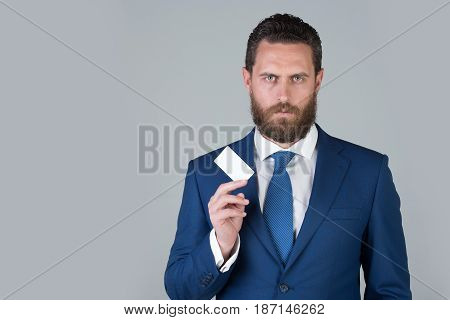 Lawyer Or Man With Business Or Credit Card, Business Ethics