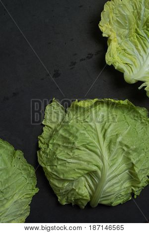 Cabbage Leaves Background