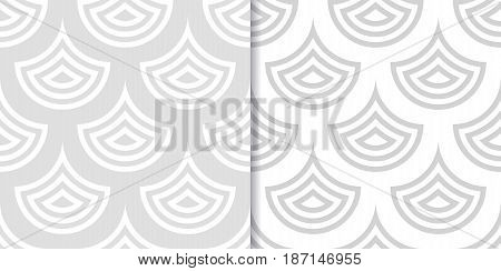 Abstract geometric background. Drop shape. Gray seamless patterns. Vector illustration