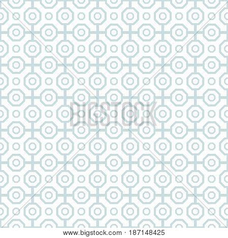 Geometric abstract octagonal background. Geometric abstract ornament. Seamless modern pattern