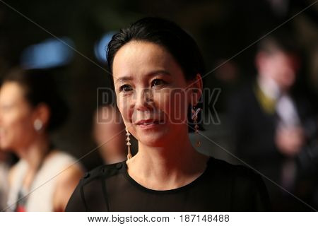 Naomi Kawase attend the 'Blade Of The Immortal (Mugen No Junin)' premiere during the 70th Cannes Film Festival at Palais on May 18, 2017 in Cannes, France.