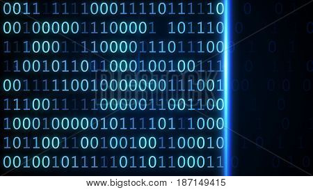 Blue Screen Computer Binary Code Listing Table Background