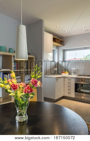 Home Interior With Flowers