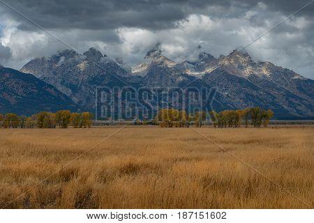 Teton Range after raining, Grand Teton National Park