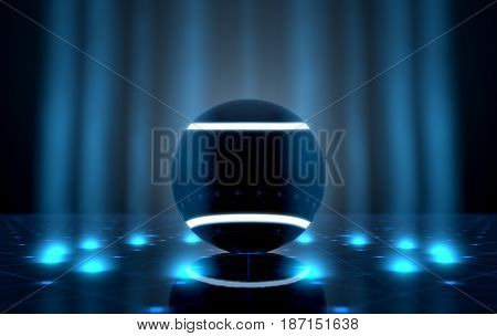 Ball On Spotlit Stage