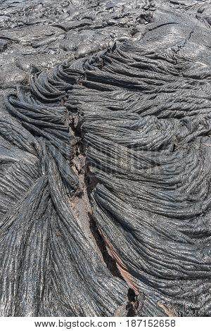 Megma In Lava Field Hawaii