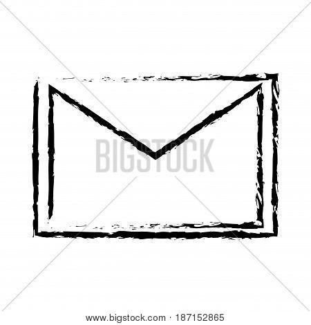 email message envelope letter communication sketch vector illustration