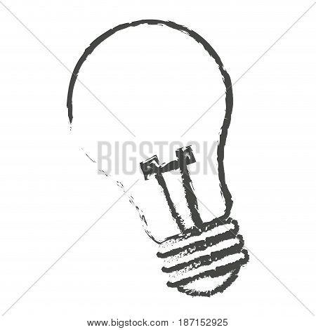 sketch bulb light electric lamp vector illustration