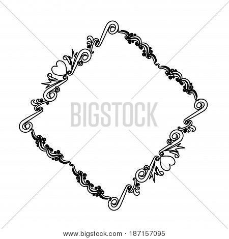 lovely frame border decoration ornament heraldry vector illustration